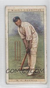 1928 Wills Cricketers - [Base] #37 - A.C. Russell [Good to VG‑EX]