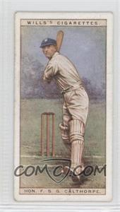1928 Wills Cricketers - [Base] #4 - Hon. F.S.G. Calthorpe [Good to VG‑EX]