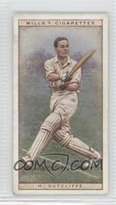 1928 Wills Cricketers - [Base] #42 - H. Sutcliffe [Good to VG‑EX]