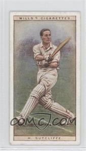1928 Wills Cricketers - [Base] #42 - H. Sutcliffe