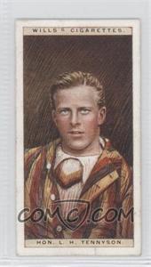 1928 Wills Cricketers - [Base] #44 - Hon. L.H. Tennyson