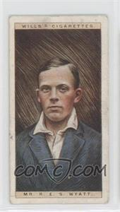 1928 Wills Cricketers - [Base] #50 - Mr. R.E.S. Wyatt [GoodtoVG‑EX]