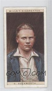 1928 Wills Cricketers - [Base] #9 - G. Duckworth