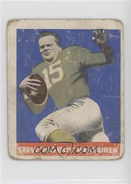 1948 Leaf - [Base] #22.1 - Steve Van Buren (Green Jersey)
