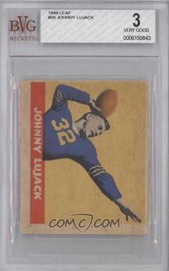 1949 Leaf - [Base] #56 - Johnny Lujack [BVG3]