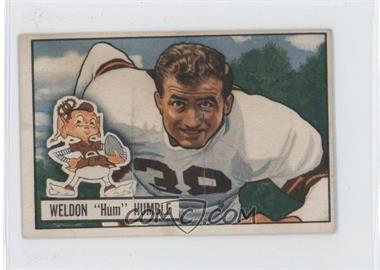 1951 Bowman - [Base] #1 - Weldon Humble