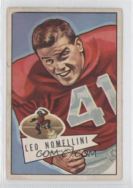 1952 Bowman - [Base] - Large #125 - Leo Nomellini [GoodtoVG‑EX]