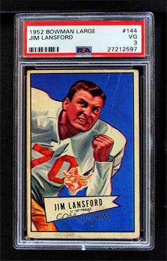 1952 Bowman - [Base] - Large #144 - Jim Lansford [PSA3VG]