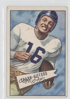 1952 Bowman - [Base] - Large #16 - Frank Gifford [Good to VG‑EX]
