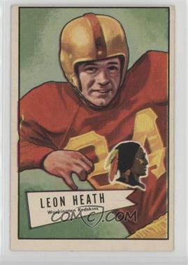 1952 Bowman - [Base] - Large #91 - Leon Heath