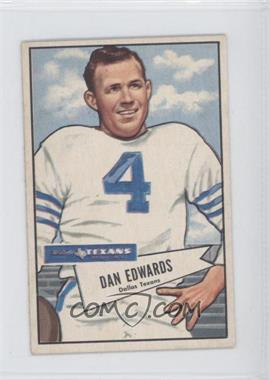 1952 Bowman - [Base] - Small #77 - Dan Edwards