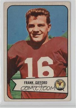 1954 Bowman - [Base] #55 - Frank Gifford [GoodtoVG‑EX]