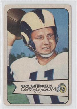 1954 Bowman - [Base] #8 - Norm Van Brocklin [GoodtoVG‑EX]