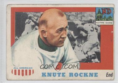 1955 Topps All American - [Base] #16 - Knute Rockne [Poor to Fair]