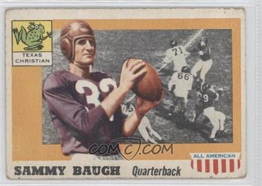 1955 Topps All American - [Base] #20 - Sammy Baugh [Good to VG‑EX]
