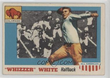 """1955 Topps All American - [Base] #21.2 - """"Whizzer"""" White (Bio Begins with Gaynell) [PoortoFair]"""