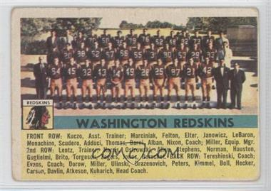 1956 Topps - [Base] #61 - Washington Redskins Team [Good to VG‑EX]
