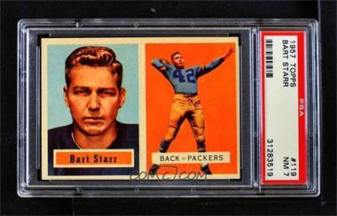 1957 Topps - [Base] #119 - Bart Starr [PSA7NM]