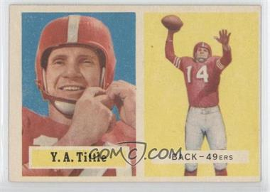 1957 Topps - [Base] #30 - Y.A. Tittle