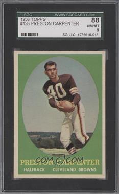 1958 Topps - [Base] #128 - Preston Carpenter [SGC88]