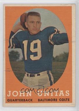 1958 Topps - [Base] #22 - Johnny Unitas