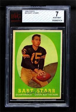 1958 Topps Base 66 Bart Starr Bvg 7 Near Mint