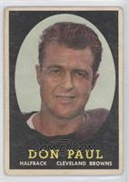Don R. Paul [Good to VG‑EX]