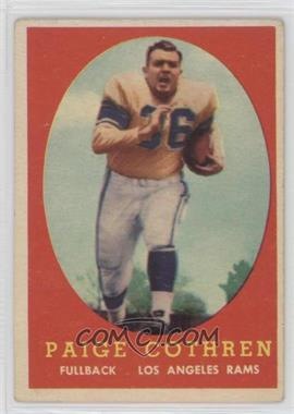 1958 Topps - [Base] #92 - Paige Cothren [Good to VG‑EX]