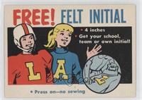 Free! Felt Initial