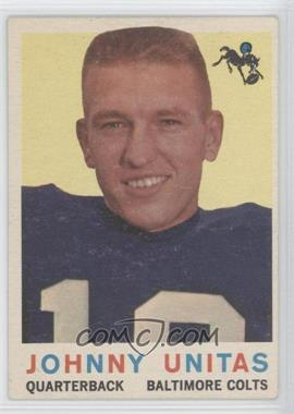 1959 Topps - [Base] #1 - Johnny Unitas
