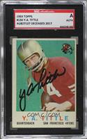 Y.A. Tittle [SGC Authentic Authentic]