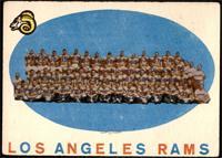 Los Angeles Rams Team Check List [VG]