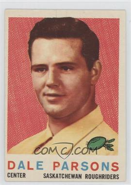 1959 Topps CFL - [Base] #83 - Dale Parsons [Good to VG‑EX]