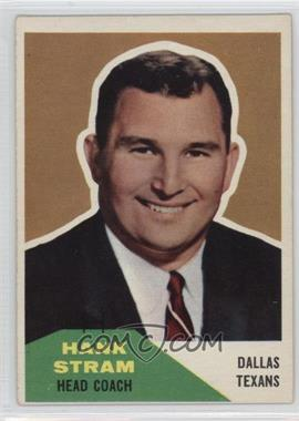 1960 Fleer - [Base] #116 - Hank Stram