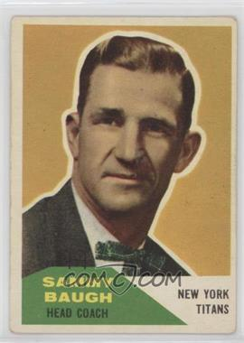 1960 Fleer - [Base] #20 - Sammy Baugh [Good to VG‑EX]
