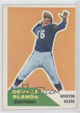 1960 Fleer - [Base] #58 - George Blanda [Good to VG‑EX]