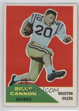 1960 Fleer - [Base] #66 - Billy Cannon [GoodtoVG‑EX]
