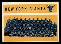 New York Giants Team, Checklist [NM]