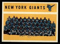 New York Giants Team, Checklist [NM MT]