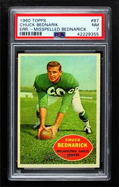 1960 Topps - [Base] #87 - Chuck Bednarik [PSA7NM]