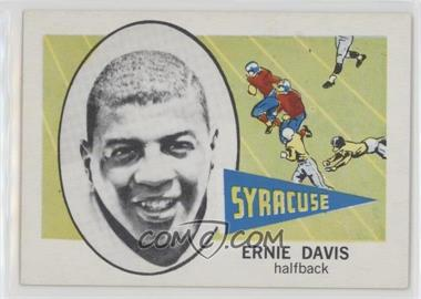 1961 Nu-Cards Football Stars - [Base] #143 - Ernie Davis