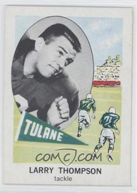 1961 Nu-Cards Football Stars - [Base] #153 - Larry Thompson