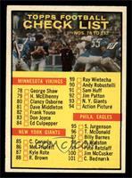 Checklist [NM]
