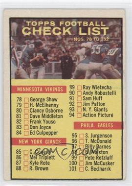1961 Topps - [Base] #122 - Checklist