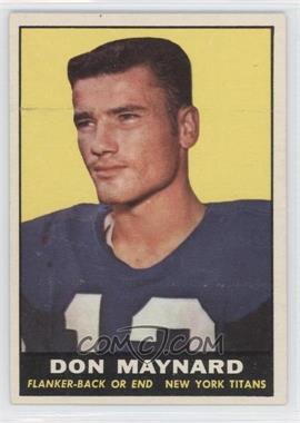 1961 Topps - [Base] #150 - Don Maynard