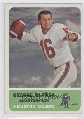 1962 Fleer - [Base] #46 - George Blanda