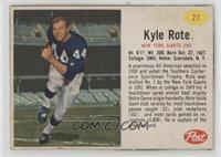 Kyle Rote [Noted]
