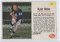 Kyle Rote [Authentic]