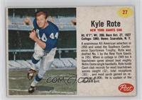 Kyle Rote [Poor]