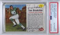 Tom Brookshier [PSA/DNA Certified Encased]